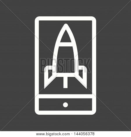 Mobile, app, smartphone icon vector image. Can also be used for startup. Suitable for use on web apps, mobile apps and print media.
