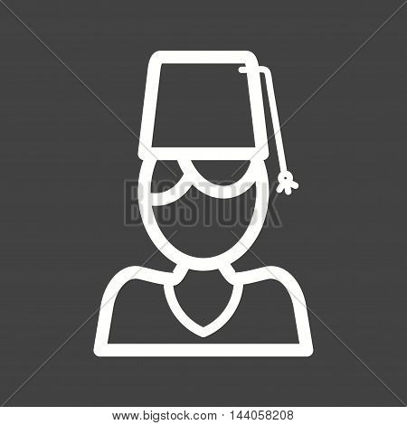Turkish, man, hat icon vector image. Can also be used for islamic. Suitable for mobile apps, web apps and print media.