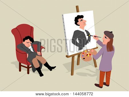 Artist - Vector illustration - EPS .