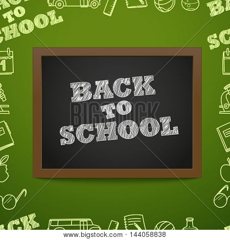 Back to scholl concept. Education elements clip-art for design