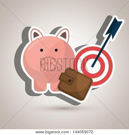 target money piggy cash vector illustration eps 10