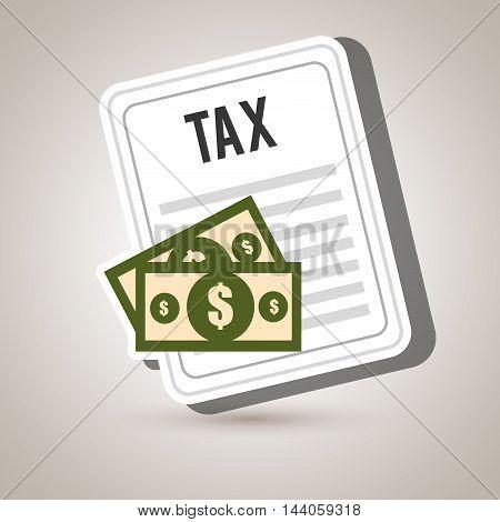 taxes money bills pay vector illustration eps 10