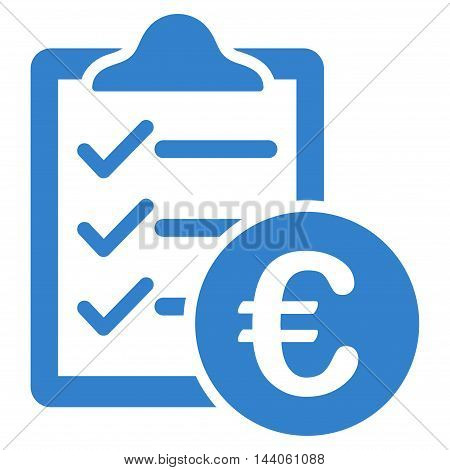 Euro Purchase Pad icon. Vector style is flat iconic symbol with rounded angles, cobalt color, white background.