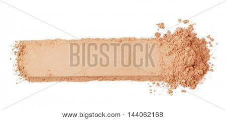 Cosmetic powder, isolated on white