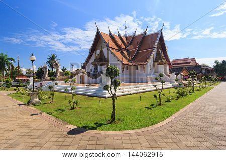 Buddhist temple of Wat Phumin in Nan Thailand