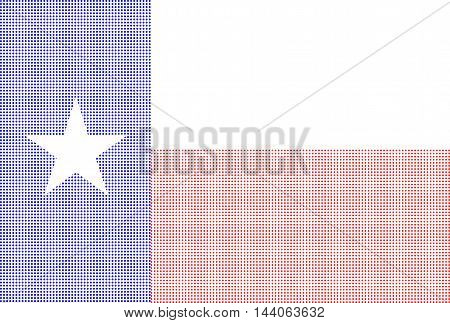 The flag of the USA state of TEXAS in halftone