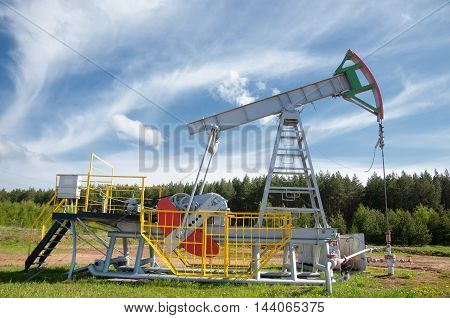 Oil Pump Jack In Operation