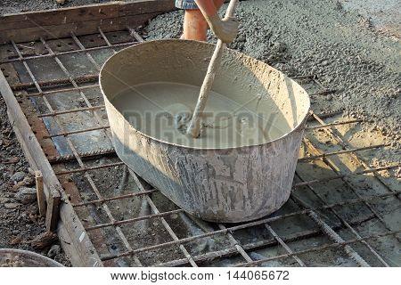 Batch Of Concrete On Masonry