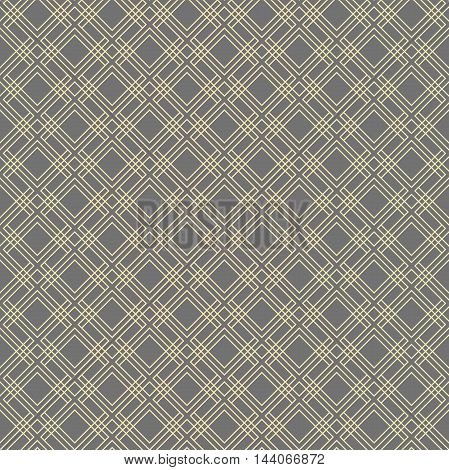 Geometric abstract vector golden pattern. Seamless modern background