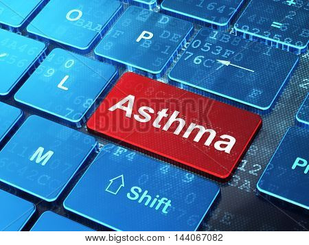 Health concept: computer keyboard with word Asthma on enter button background, 3D rendering