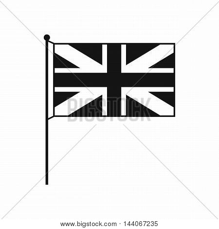 UK flag icon in simple style isolated on white background. State symbol