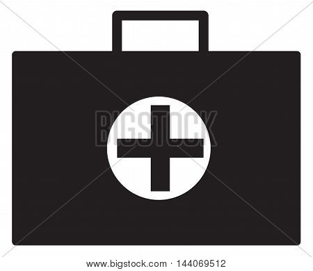 Medical case sign icon. Doctor symbol. Flat medical case symbol on white background. Vector