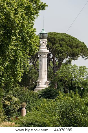 Rome's lighthouse on Janiculum Hill. Rome Italy