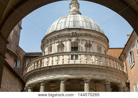 Palazzo Montorio on Janiculum Hill in Rome Italy