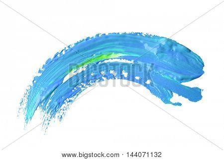 oil paint stroke on white background
