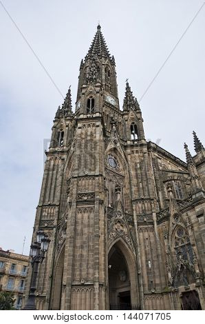Bell Tower of Cathedral of Good Shepherd, San Sebastián, Spain