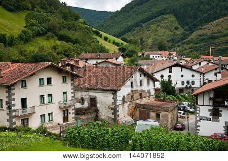 Views of Leitza, in Navarre Community, Spain