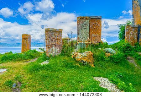 The small graveyard next to Hayravank Monastery is the religious tourist landmark preserved since the Middle Ages Armenia.