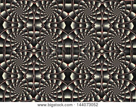 Fractal artwork for creative design. Abstract background with symmetric ornaments