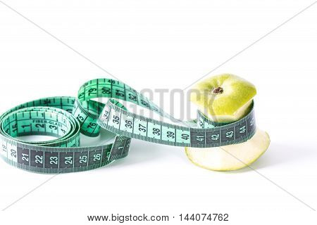 Diet Concept With Green Apple ,healthy Concept