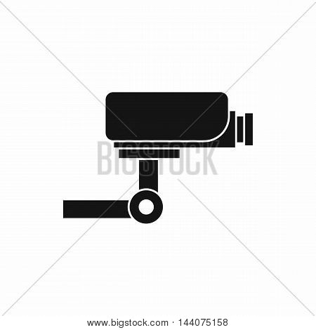 CCTV camera icon in simple style isolated on white background. Video symbol