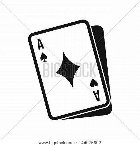 Playing card icon in simple style isolated on white background. Play symbol
