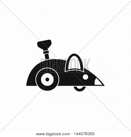 Clockwork mouse icon in simple style isolated on white background. Toy symbol