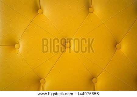 Close up yellow leather and texture background