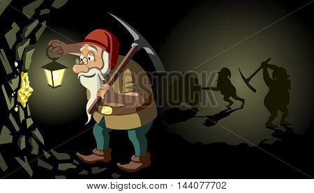 Dwarf - Vector illustration - EPS .