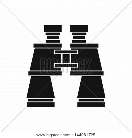 Binoculars icon in simple style isolated on white background. Zoom symbol