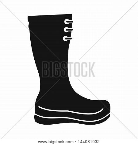 Rubber boots icon in simple style isolated on white background. Shoes symbol