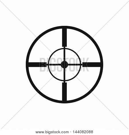 Aim icon in simple style isolated on white background. Target symbol