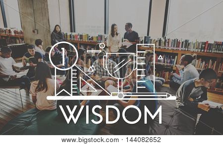 Knowledge Education Wisdom Literacy Graphic Concept