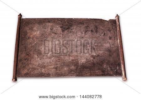 Vintage slate chalk board on white background