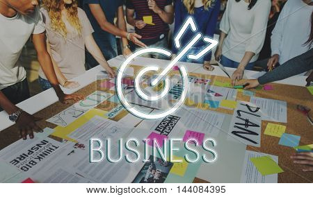 Business Success Aim Targer Concept