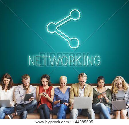 Communication Connection Digital Graphic Concept
