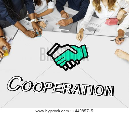Trust Handshake Partnership Coperation Graphic Concept