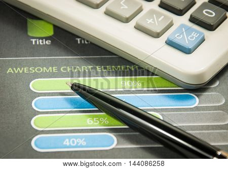 Business graph and financial report. finance and banking concept.