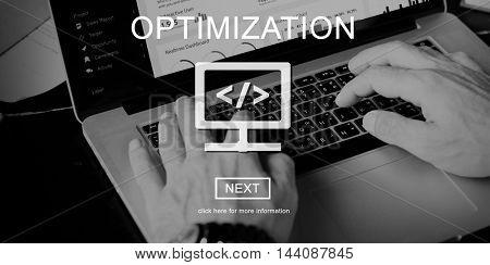 Optimization Connection SEO Digital Computer Concept