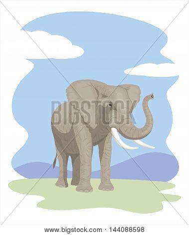 Elephant - Vector illustration - EPS .