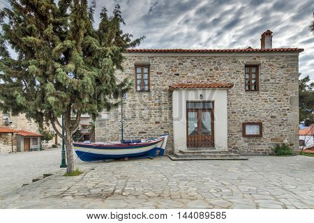 Stone house in Ammouliani island, Athos, Chalkidiki, Central Macedonia, Greece