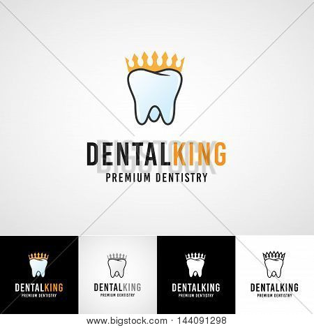 Teethcare logo template. dental icon set. dentist clinic insignia, orthodontist illustration, teeth vector design, oral hygienist concept for stationary, tooth branding t-shirts picture, business card graphic.