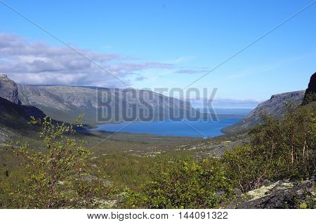 Lake Seydyavr behind the Arctic Circle on the Kola Peninsula