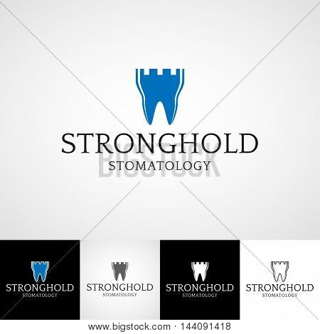 Creative dental logo template. orthodontist illustration, teeth vector design, oral hygienist concept for stationary, tooth branding t-shirts picture, business card graphic, medical products or medicine poster image