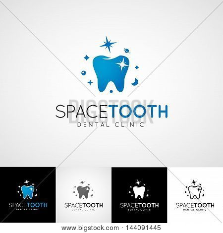 Dental logo template. Teethcare icon set. dentist clinic insignia, orthodontist illustration, teeth vector design, oral hygienist concept for stationary, tooth branding t-shirts picture, business card graphic.
