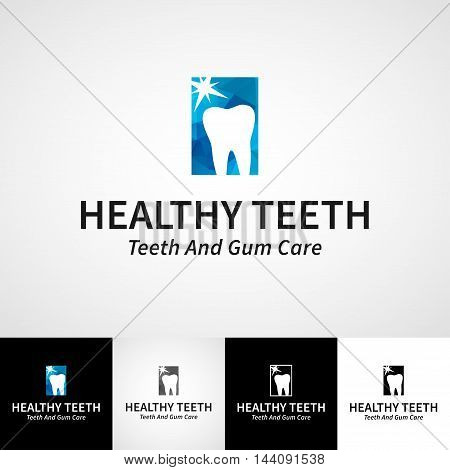 Creative dental logotype template. Teethcare vector logo set. dentist clinic insignia, orthodontist illustration, teeth vector design, oral hygienist concept for stationary, business card graphic, medical products poster image