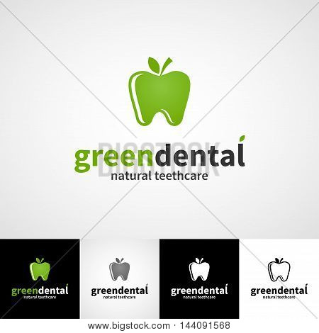 Creative dental logo template. Teethcare icon set. dentist clinic insignia, stomatologist practice sign, illustration, teeth vector design, oral hygienist concept, business card graphic, medical products or medicine poster image