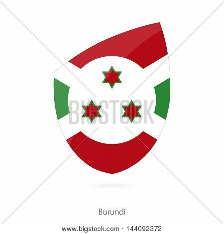 Flag Of Burundi. Burundian Rugby Flag.