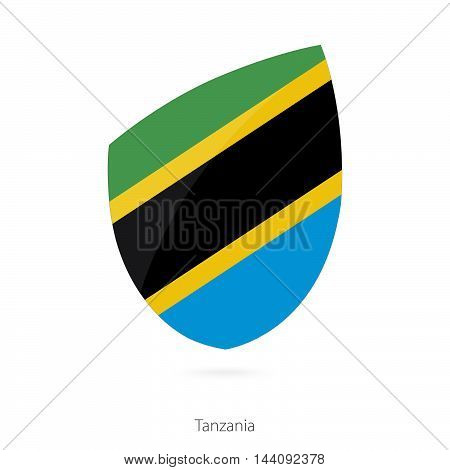 Flag Of Tanzania In The Style Of Rugby Icon.