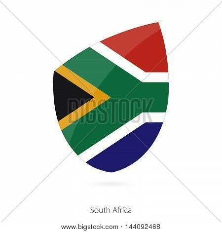 Flag Of South Africa In The Style Of Rugby Icon.